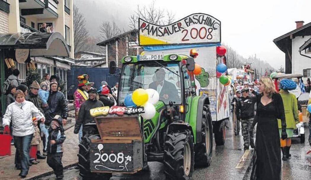 Erster Ramsauer Faschingszug Seit 2008 Keine Motorisierten Wagen